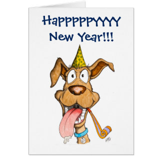 New Year: Dog (Boom Boom) Card