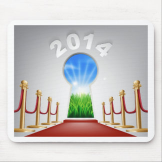 New Year Door Keyhole 2014 Mouse Pads