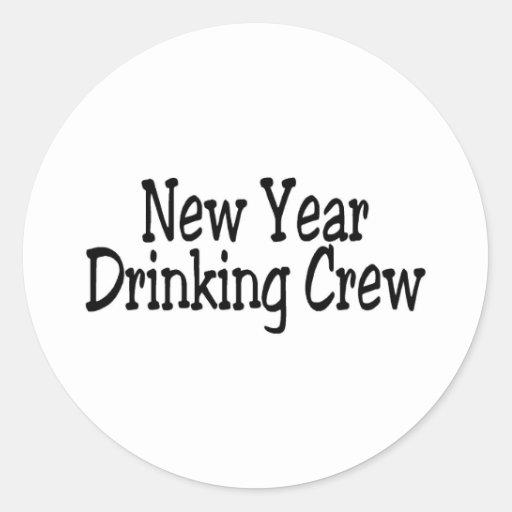 New Year Drinking Crew 2 Sticker