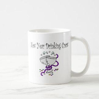 New Year Drinking Crew Basic White Mug