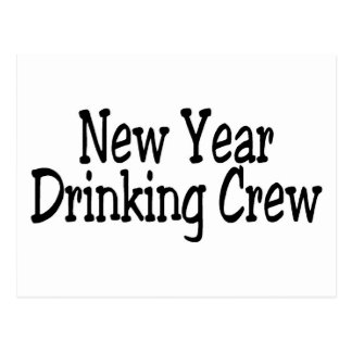 New Year Drinking Crew Post Cards