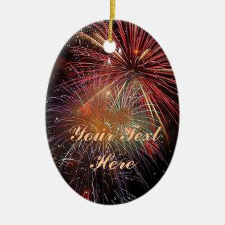New Year Fireworks Sparkles Christmas Ornament
