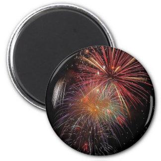 New Year Fireworks Sparkles Magnet