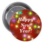 New Year Flash 7.5 Cm Round Badge