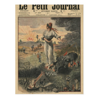 New Year France hopes for better days Post Cards