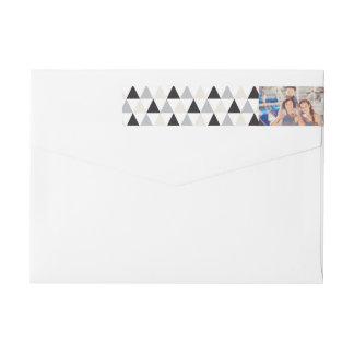 New Year Geometric Holiday Photo Address Labels