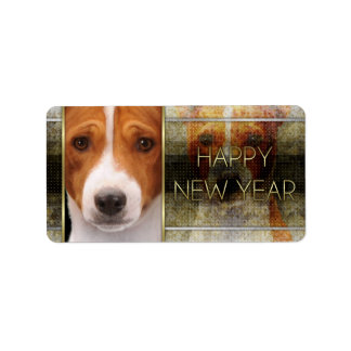 New Year - Golden Elegance - Basenji Label