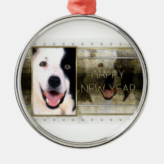 New Year - Golden Elegance - Border Collie Christmas Ornament