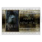 New Year - Golden Elegance - Newfoundland Card