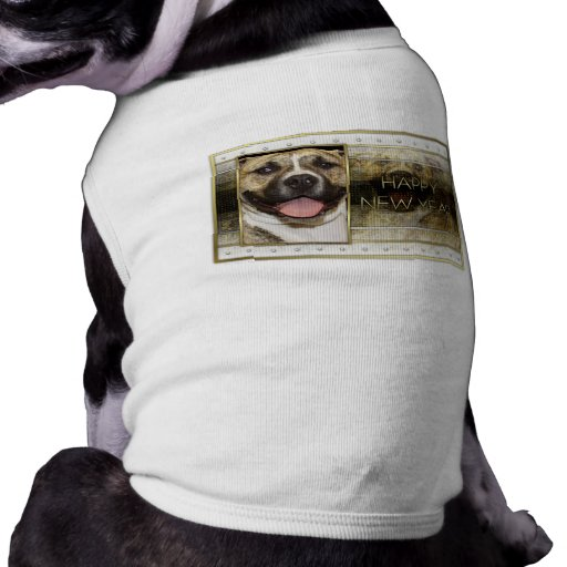 New Year - Golden Elegance - Pitbull Tigger Dog Shirt