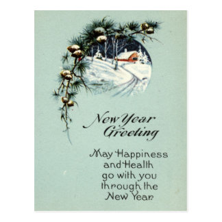 New Year Greeting 1915 Vintage Post Cards