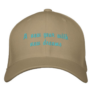 New year hat embroidered cap