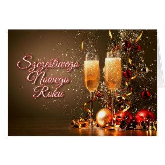 New Year in Polish - Szczęśliwego Nowego Roku Greeting Card