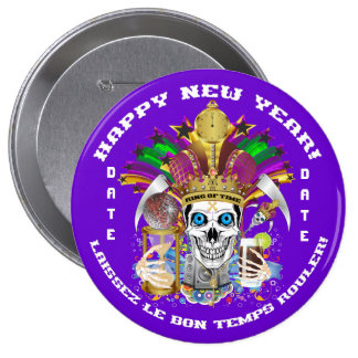 New Year Mardi Gras Customize View Notes Please 10 Cm Round Badge