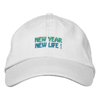 NEW YEAR / NEW LIFE cap (white) Embroidered Baseball Cap