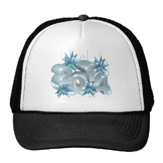 New Year or Christmas 2014 Decorations Mesh Hats