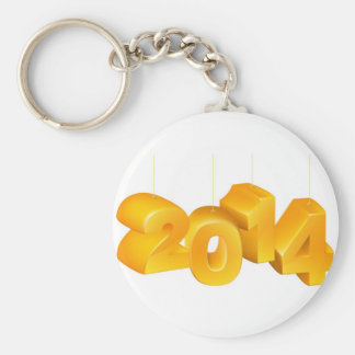 New Year or Christmas 2014 Ornaments Key Chains