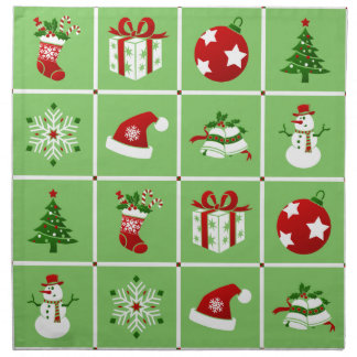 New Year pattern. Color Pictures. 2018. Napkin