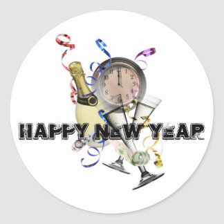New Year Products Classic Round Sticker