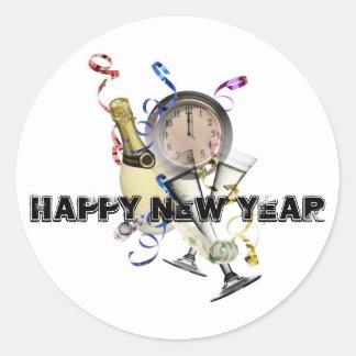 New Year Products Round Sticker