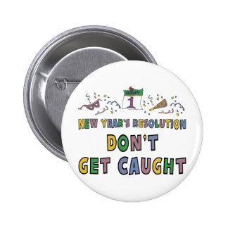 New Year Resolution 6 Cm Round Badge