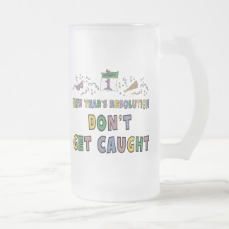 New Year Resolution Frosted Glass Mug