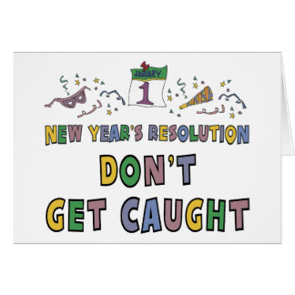 New Year Resolution Greeting Card