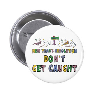 New Year Resolution Pinback Button