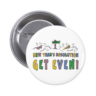 New Year Resolutions Funny Gift 6 Cm Round Badge