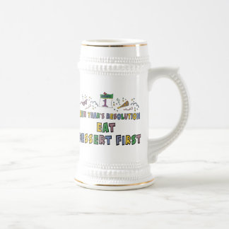 New Year Resolutions Funny Gift Beer Stein