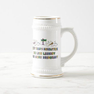 New Year Resolutions Funny Gift Beer Steins