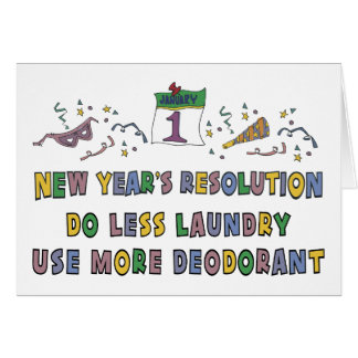 New Year Resolutions Funny Gift Card