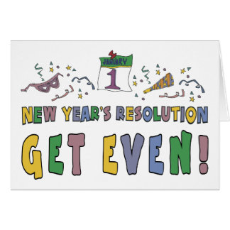 New Year Resolutions Funny Gift Cards