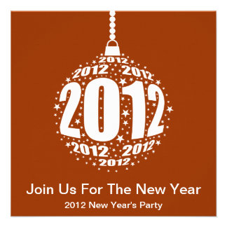 New Year s 2012 Stylish Ornament Design Invitations
