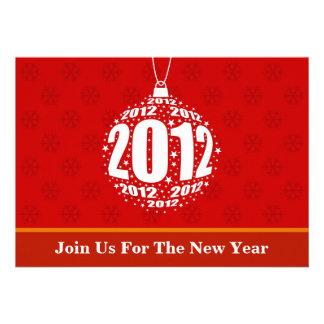 New Year s 2012 Stylish Ornament Design Custom Invite