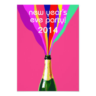 New Year's Eve Party 13 Cm X 18 Cm Invitation Card