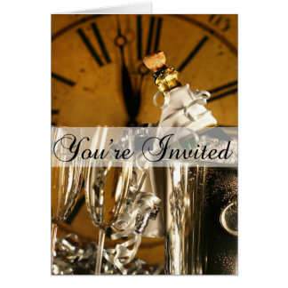 New Year s Eve Party Invitation Greeting Cards
