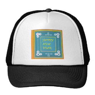 New Year s Greetings Mesh Hats