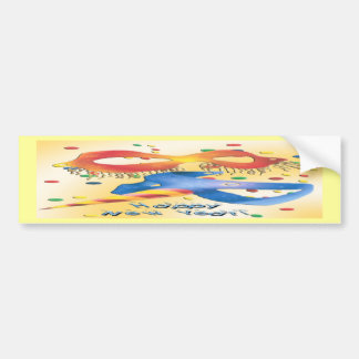 New Year s Masks Bumper Stickers