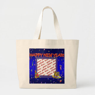 New Year s Photo Frame Tote Bag