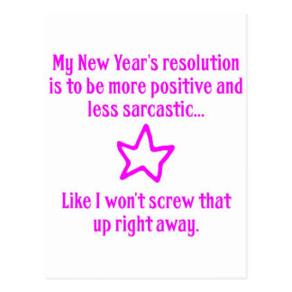 New Year s Resolution Post Cards