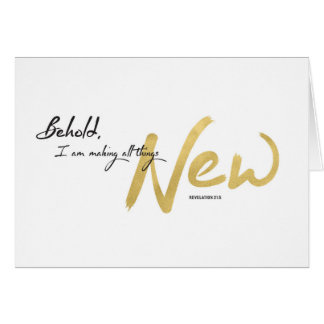 New Year, Scripture - I am Making All Things New Card