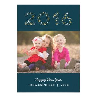 New Year Sparkle Happy New Year Holiday Photo Card 13 Cm X 18 Cm Invitation Card