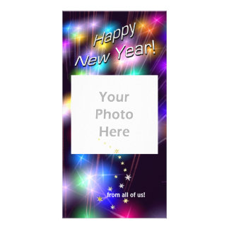 New Year Star Lights Customized Photo Card