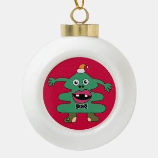 New Year Tree Cute Monster Ceramic Ball Decoration