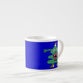 New Year Tree Cute Monster Espresso Mug