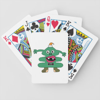 New Year Tree Cute Monster Playing Cards
