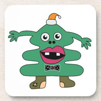 New Year Tree Monster Custom Cork Coaster