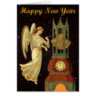 new year vintage angel card