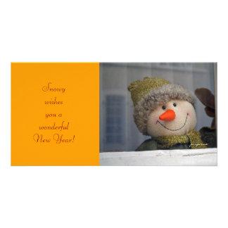 New Year wishes Custom Photo Card
